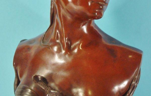 Renzo Colombo. Bohème Orientale. Escultura en bronce.  Hacia 1884.