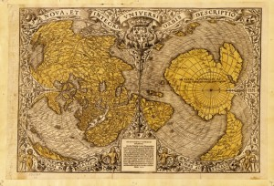 Antiguo mapa mundi.