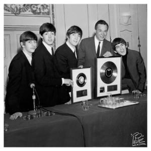 The Beatles. Discos de oro.