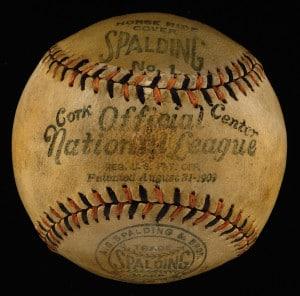 Pelota de baseball Spalding. 1915.