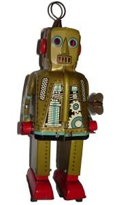Robot japones en hojalata.