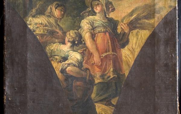 Vicente López Portaña. Ruth espigando en el campo de Booz. Boceto para la iglesia de Santa María del Mar del Grao, Valencia.