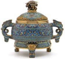 Inciensario cloisonné chino | Antigüedades Barcelona Artpironti