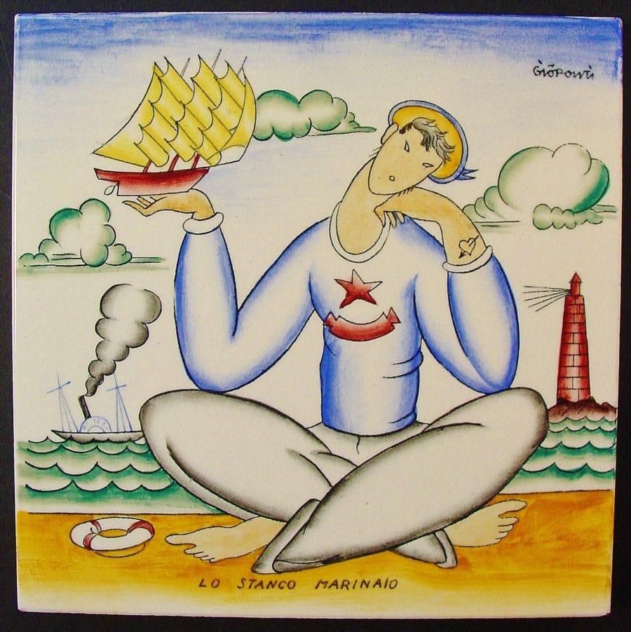 Lo Stanco Marinaio | Gio Pont | Azulejo en cerámica.