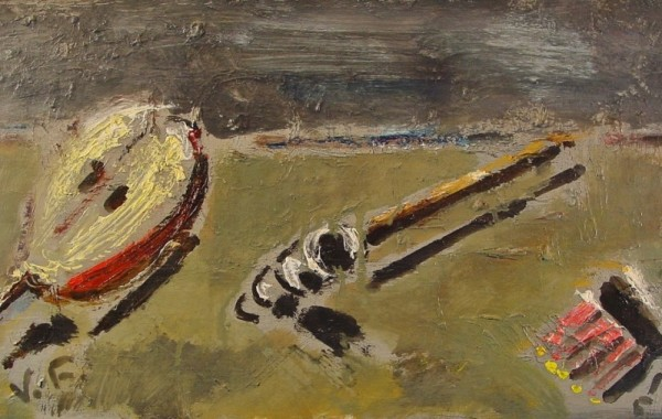 Filippo de Pisis. Natura morta. Óleo sobre tabla. 1951