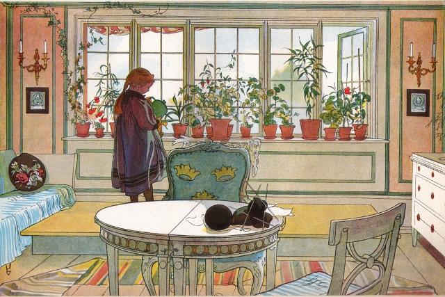 Escena interior. Carl Larsson. 1894.