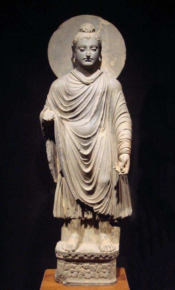 Buda de Gandhara. Piedra tallada.